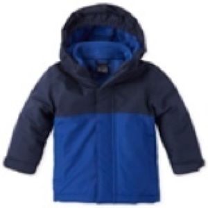 Toddler boy 3 in 1 colorblock winter coat